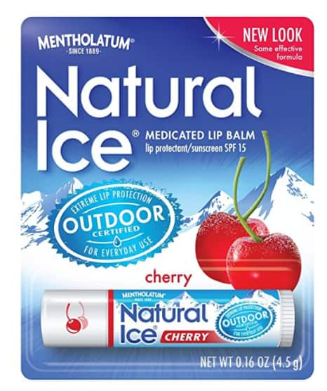 12-Count Mentholatum Natural Ice Medicated Lip Protectant SPF 15 CHERRY balm $8.59 or Less w/SS AC