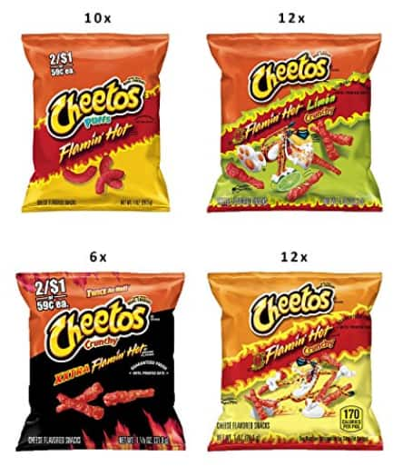 40-Count Cheetos Hot & Spicy Variety Pack $12.58 AC@Amazon