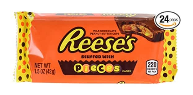 24-Pack of 1.5oz Reese's Pieces Peanut Butter Cups $13.31 @Amazon