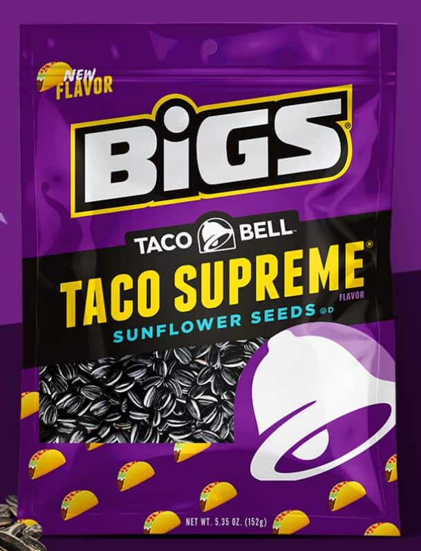 Free BIGS Taco Bell Supreme Sunflower Seeds 5,000 Bags