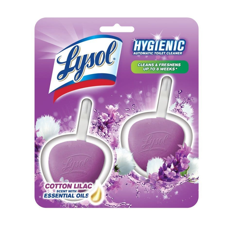 Lysol Hygienic Automatic Toilet Bowl Cleaner Cotton Lilac 2 Count