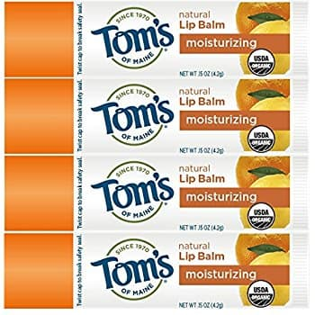 4-Count Tom's of Maine Natural Lip Balm, Island Paradise or Peppermint $4.19 or More SS AC + Free Ship