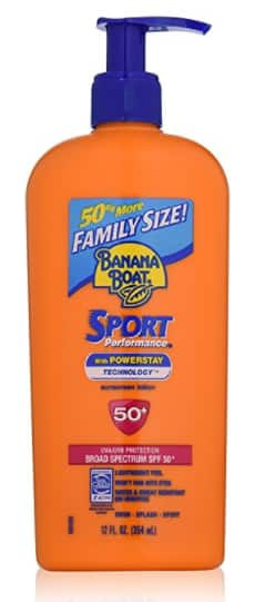 12oz. Banana Boat Sunscreen Sport Family Size Broad Spectrum Sun Care Sunscreen Lotion - SPF 50 $8.45 or $7.46 w/SS AC + Free Shipping