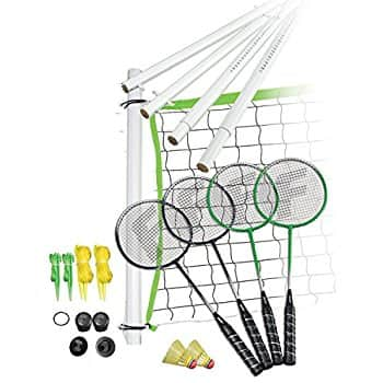 4-Person Badminton Set, Racquets, Birdies, Net/Clips, Carrying Bag $15.50 @Walmart, Amazon