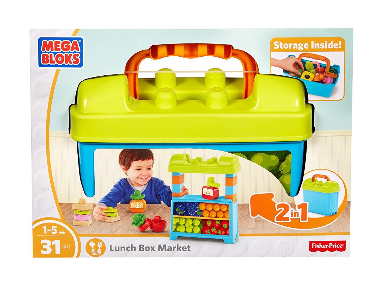 Mega Bloks First Builders Lunch Box Market Building Set $10 @Amazon, Walmart