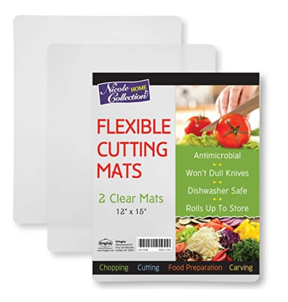 2-Count Flexible Plastic Cutting Board Mats set $3.99 @Amazon