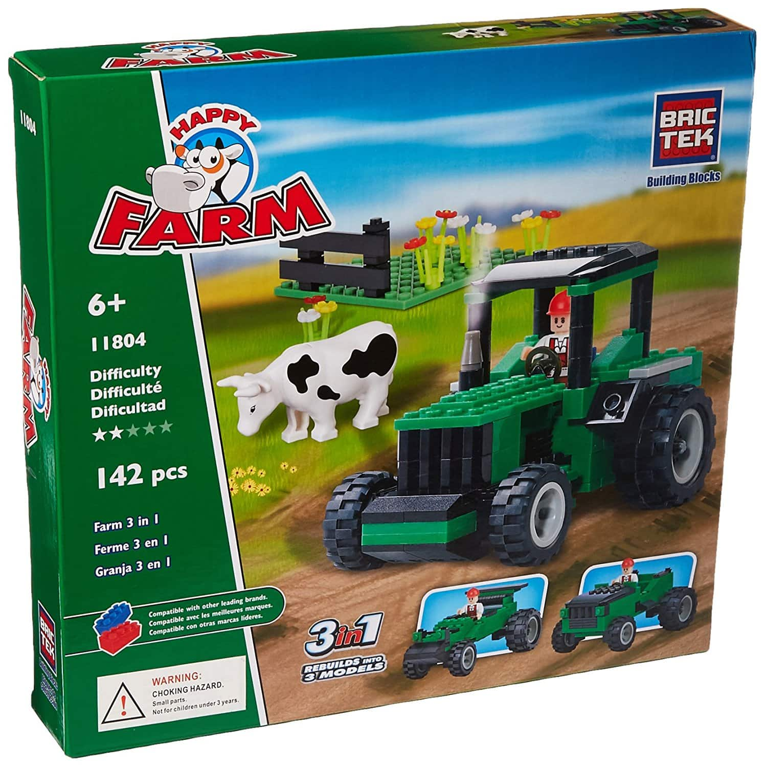 Brictek Farm 3 in 1 Building Kit (142pc.) $3.92 *Add-On @Amazon + Free Shipping