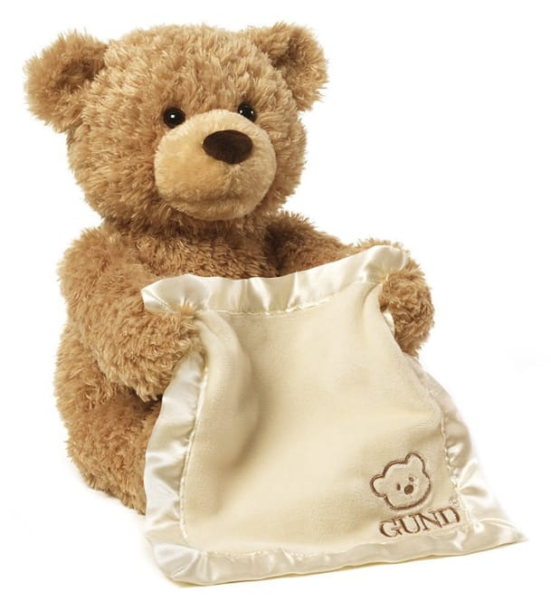 "11.5"" GUND Peek-A-Boo Teddy Bear ""Animated"" Stuffed Animal Plush $21.20 @Amazon"