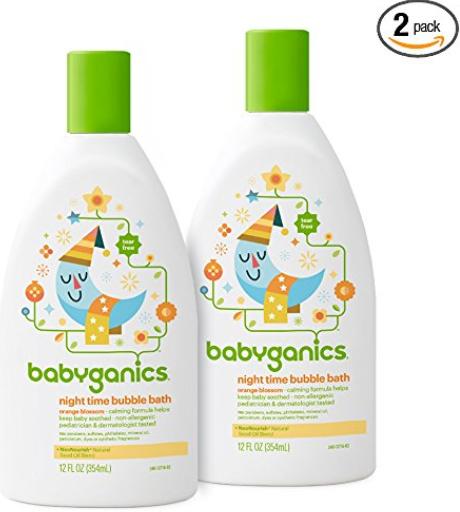 2-Pk 12oz Babyganics Bubble Bath (Orange Blossom) $8.54/$6.99 w/SS AC + Free Shipping