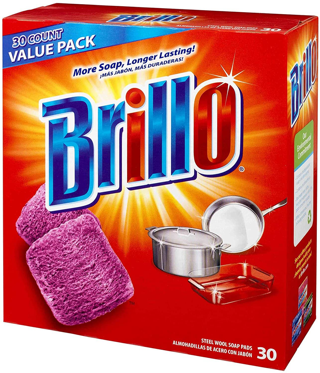 30-Count Brillo Steel Wool Soap Pads Original Scent (Red) $4.27 *Add-On +Free Shipping