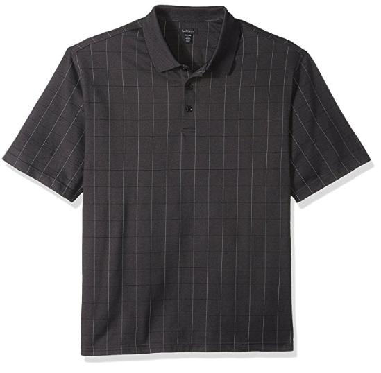 Van Heusen Men's Big and Tall Short Sleeve Printed Windowpane Polo $5.59 - $5.89 @Amazon