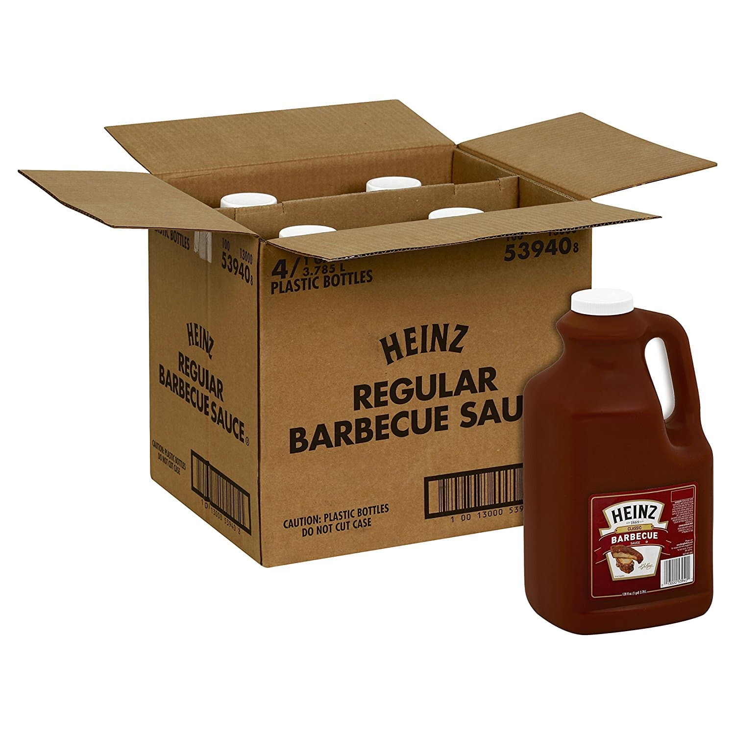 4-Count 1 gal. Heinz Reg. BBQ $21.06 AC or Hickory Smoke BBQ Sauce $16.63 & More AC & w/5% SS