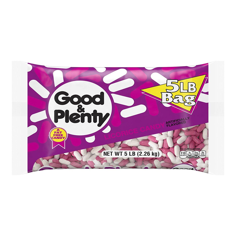 5-Pound Bag GOOD & PLENTY Licorice Candy $11.88 or Less w/SS