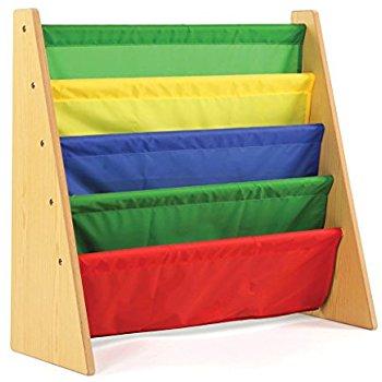 Tot Tutors Kids Book Rack Storage Bookshelf, Natural/Primary (Primary Collection) $19.94 (List $50) Walmart or Amazon