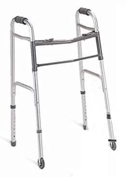 """4-Count Medline Basic 2-Button Folding Walkers with 5"""" Wheels (Junior 4'6"""" - 5'5) $39.25 (Now $42) Amazon +FS"""