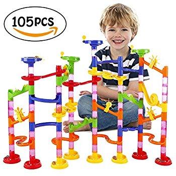 BATTOP Marble Run Railway Toy Marble Run Coaster Railway Construction $12.59 Amazon