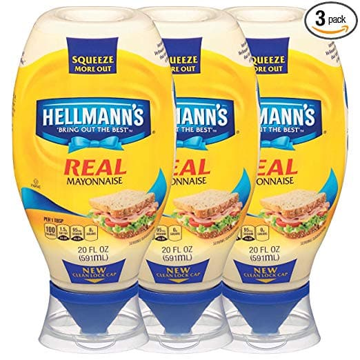 3-Pack 20oz Hellmann's Real Mayonnaise Squeeze Bottle $7.83 / $6.78 w s&s AC