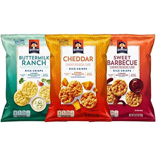 30-Count Bags Quaker Rice Crisps, Savory Mix, (0.67 oz) $11.33 / $9.82 w s&s AC