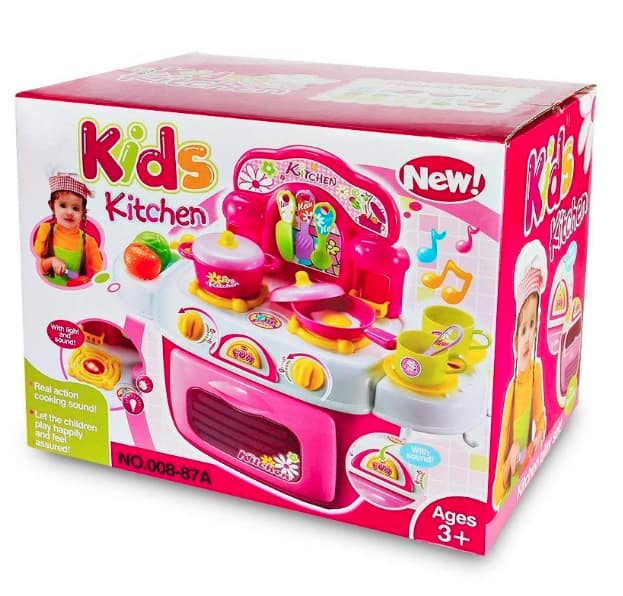 Kids Kitchen Cooking Set, Pretend Food Play and Cookware with Light and Sound $6.29 AC Amazon