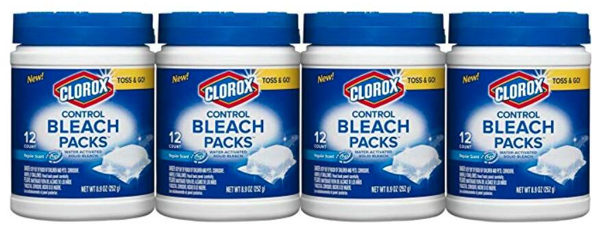 48-Count (4 Containers) Clorox Control Bleach Packs $10.25 AC Amazon