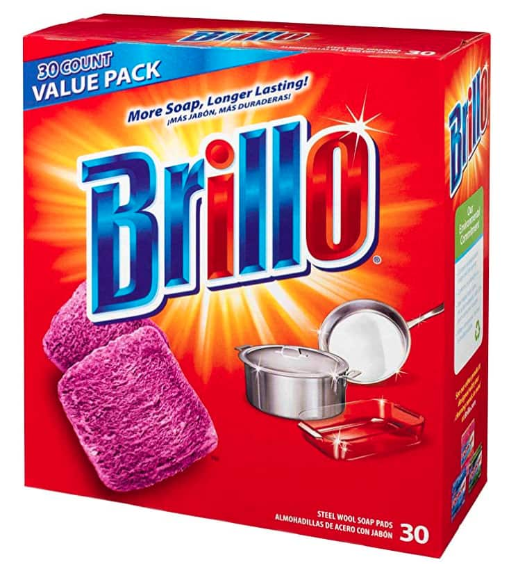 30-Count Brillo Steel Wool Soap Pads Original Scent (Red) $4.30 *Add-On +Free Shipping