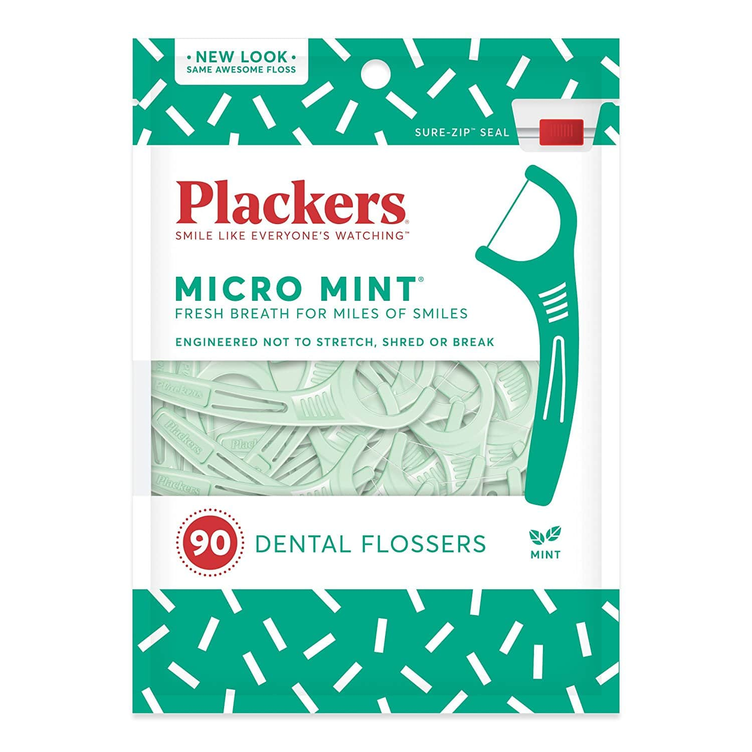6-Pack of 90-Count Plackers Micro Mint Flossers $9.99 (5%) or $8.49 AC w/ S&S + Free S/H