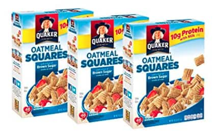 3-Ct 14.5oz Quaker Oatmeal Squares Breakfast Cereal (Brown Sugar) $5.24 AC w/ 5% S&S + Free S&H