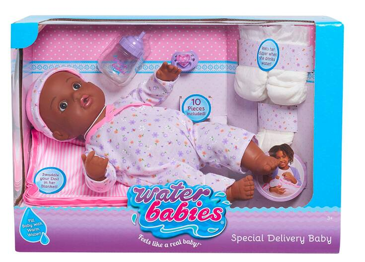 Waterbabies Special Delivery Baby AA Doll (Black) $12.56 Amazon