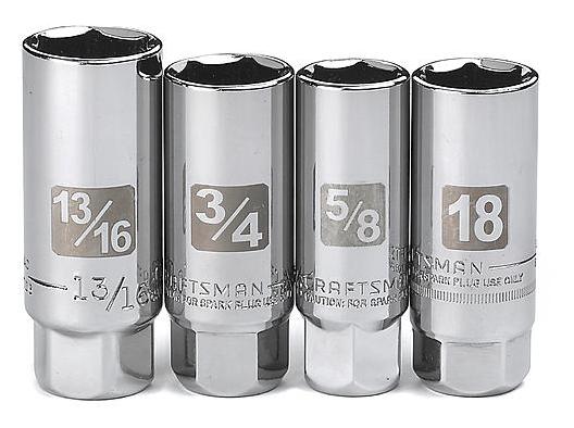 "Craftsman 4 pc. 3/8"" Drive Easy-to-Read Spark Plug Socket Set $11.66"