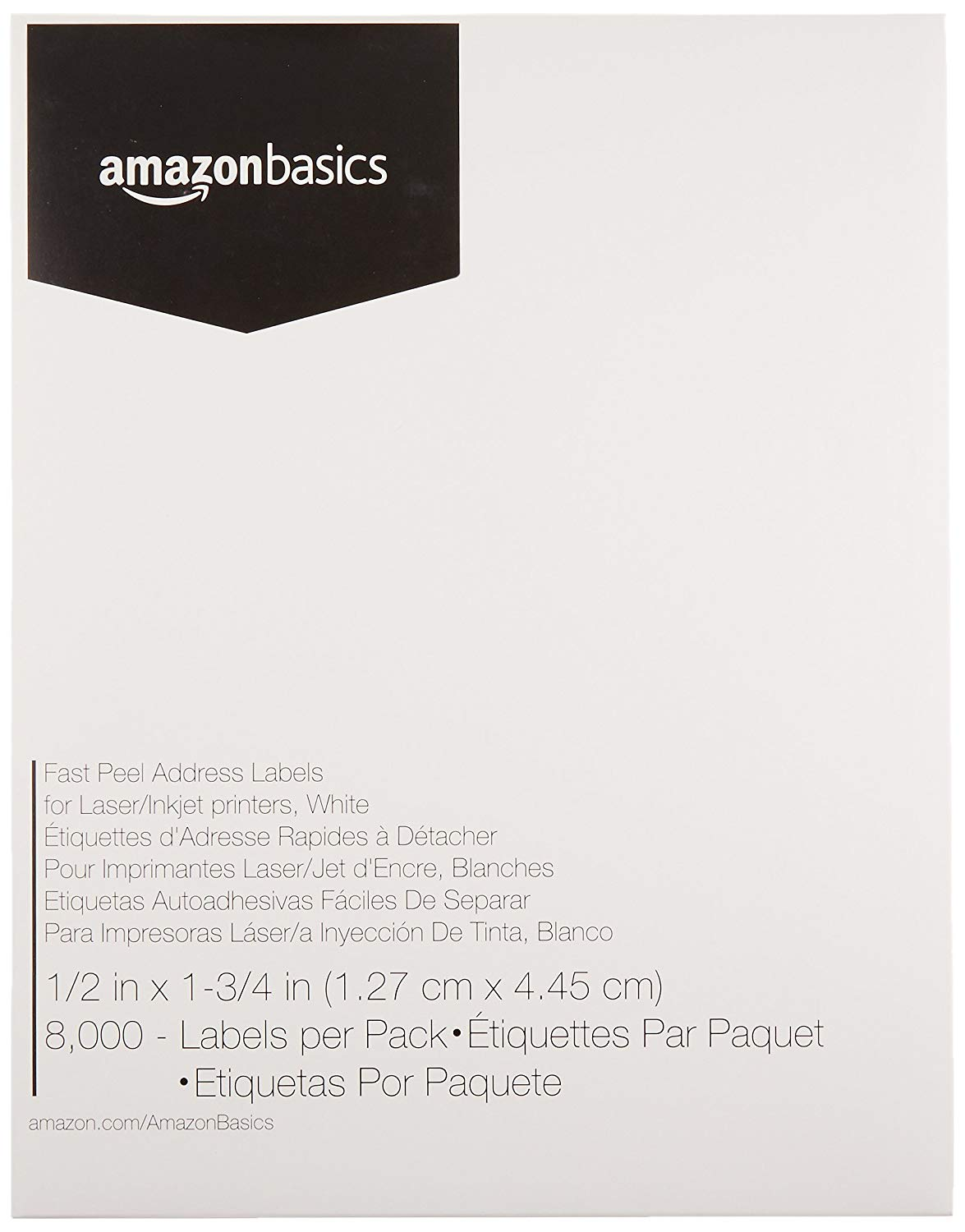 8 000 count amazonbasics fast peel address labels for laser inkjet