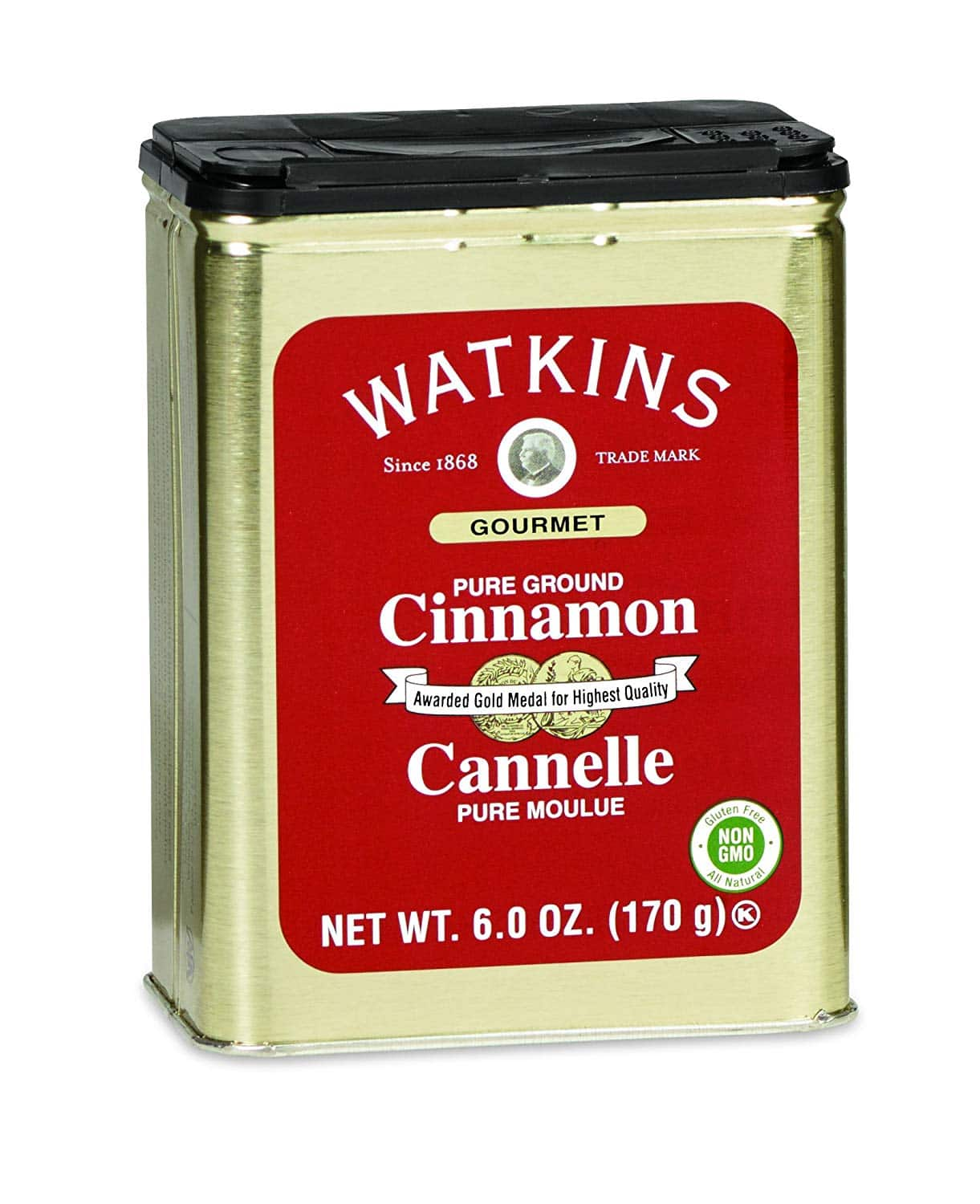 Watkins All Natural Gourmet Spice Tin, Ground Cinnamon, 6 Ounce Can $7.64 AC *Add On +Free Shipping