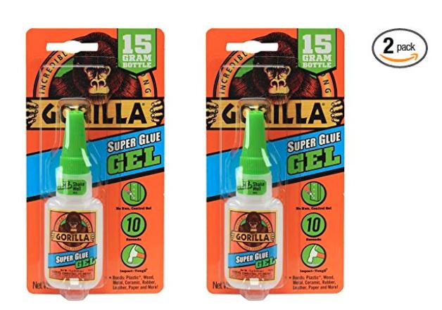 how to get gorilla super glue off skin