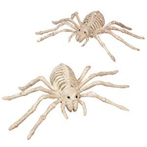 """2-Count 10"""" Halloween Skeleton Spider Bones Decorations $3.49 AC - Amazon"""