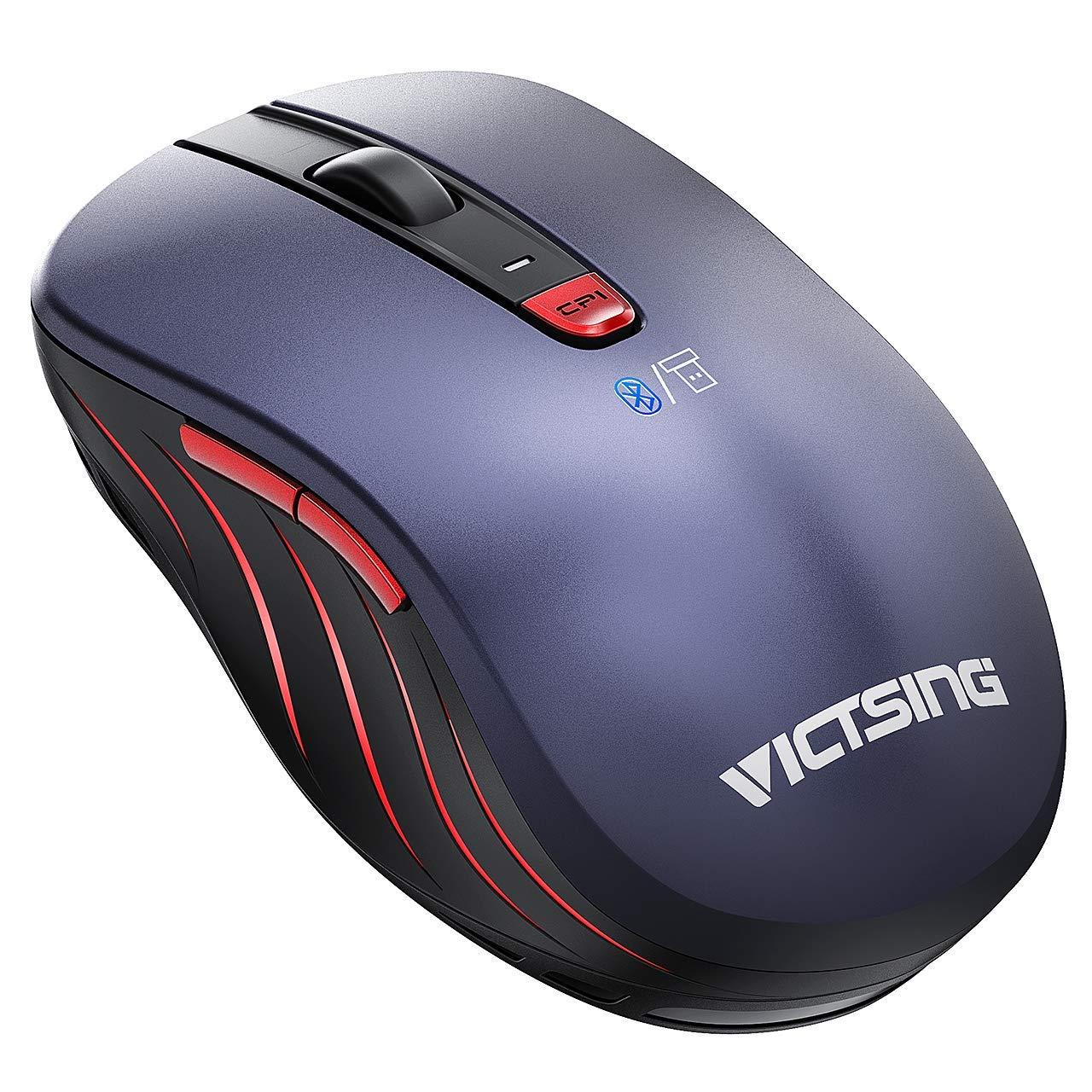4ca6953915bd VicTsing Bluetooth Mouse Wireless, Dual Mode Portable Ergonomic ...