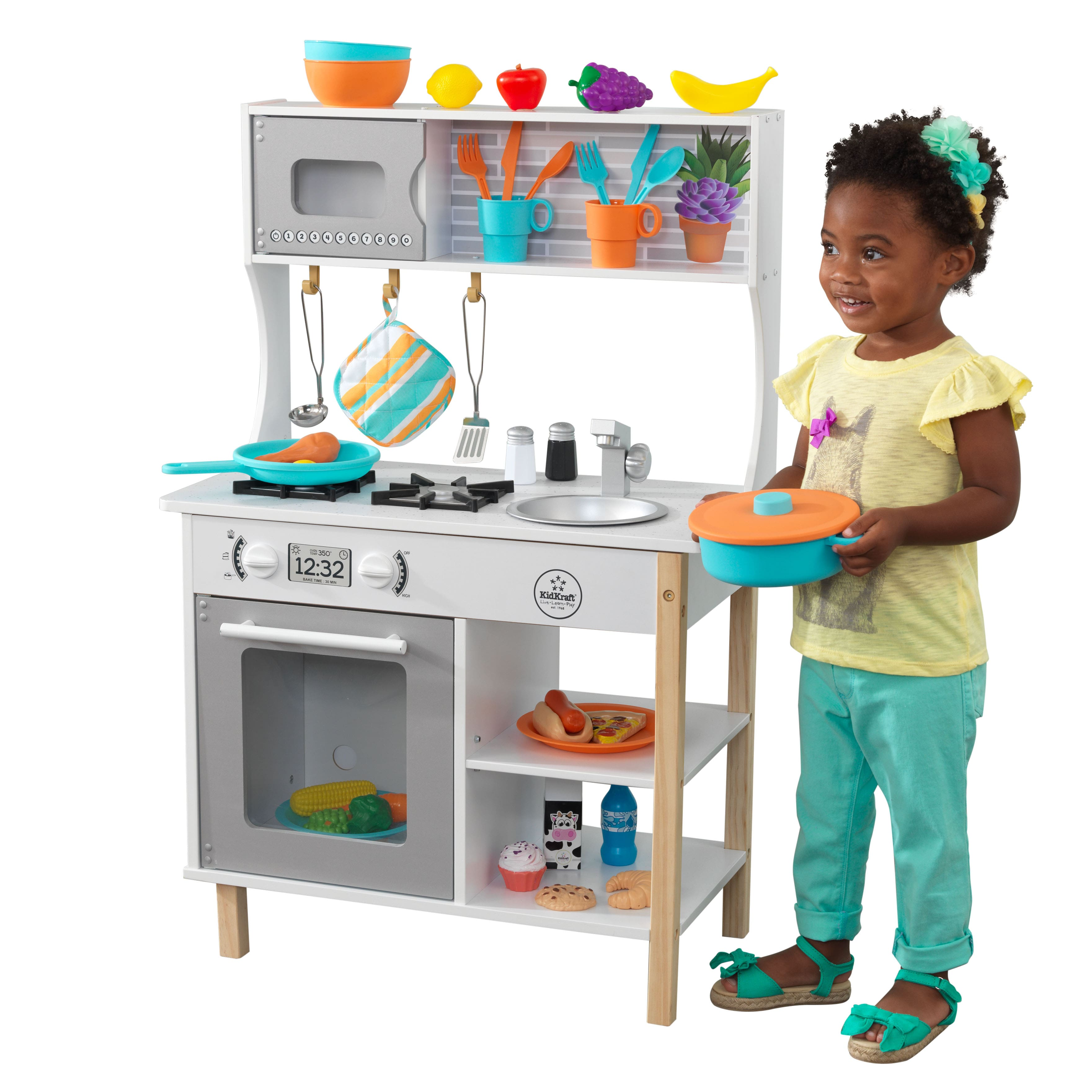 KidKraft All Time Play Kitchen with Accessories $59.99 ...