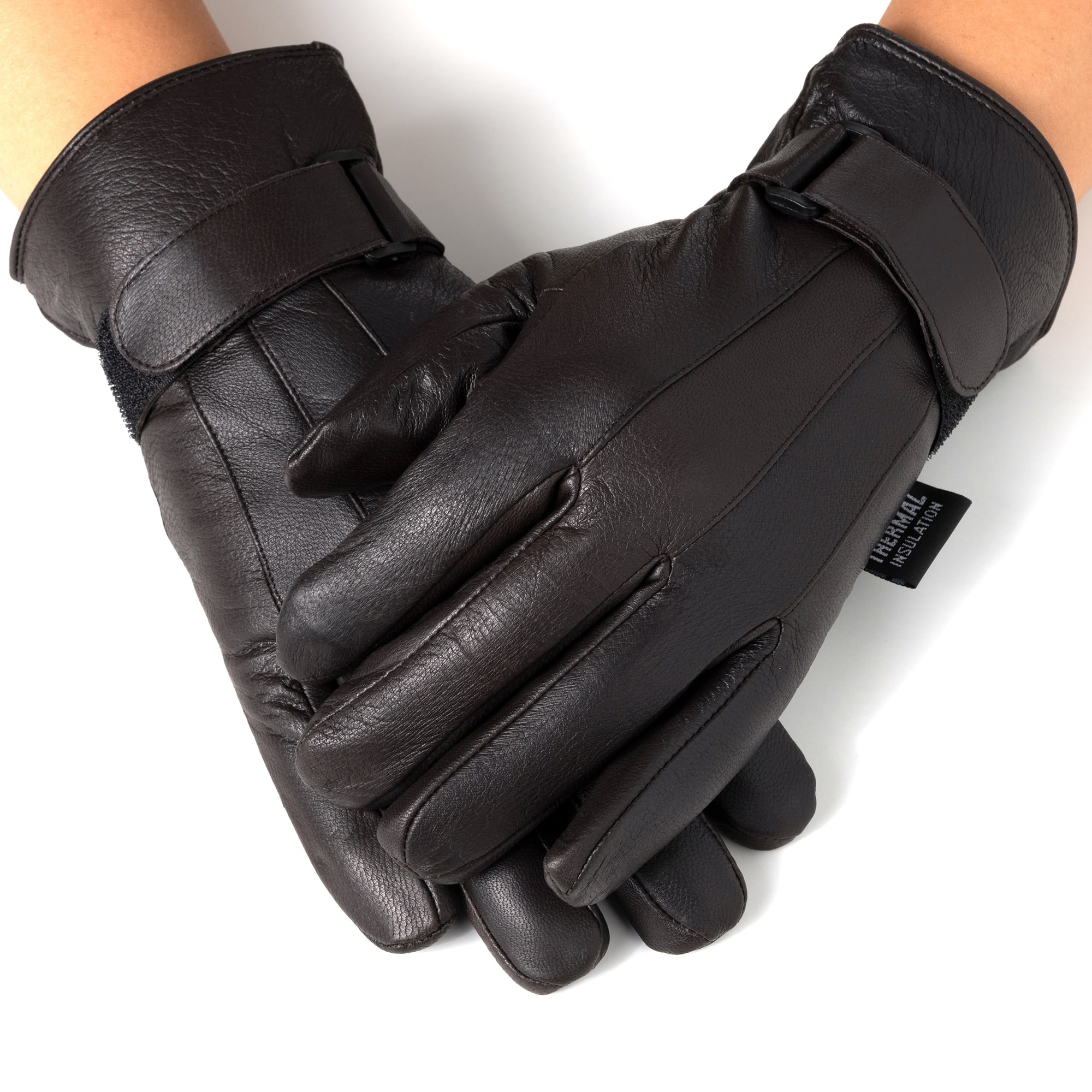 Alpine Swiss Men's Genuine Leather Warm Thermal Lined Glove (BR or BLK) $7.99 (Ladies $8.99) & More - eBay +Free Shipping