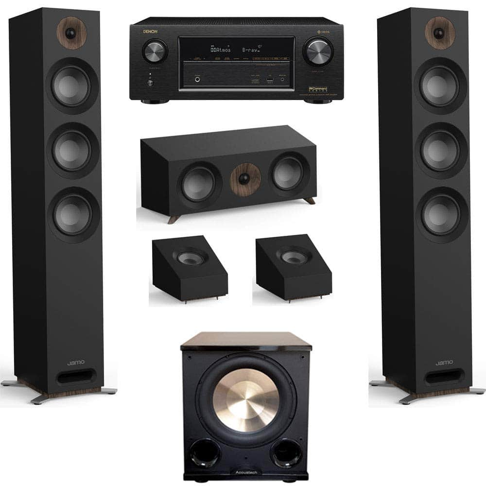 Jamo Studio Series 3.1.2 Home Theater System with S 809 Towers and Denon AVR-X3400H Receiver (Black, White, Walnut) $1,399 - Amazon +Free Shipping