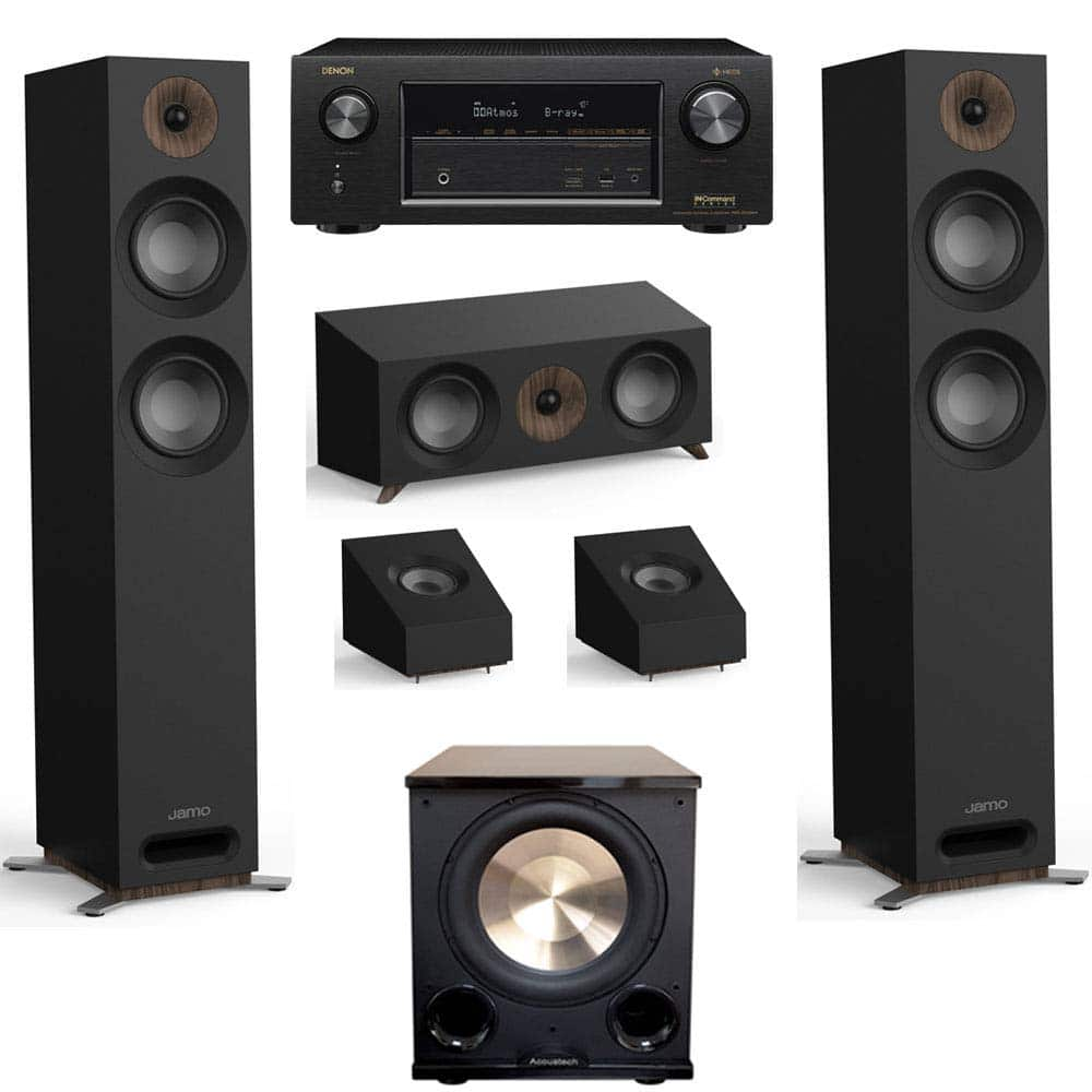Jamo Studio Series 3.1.2 Home Theater System with S 807 Towers and Denon AVR-X3400H Receiver (Black, Walnut, White) $1299 - Amazon +Free Shipping
