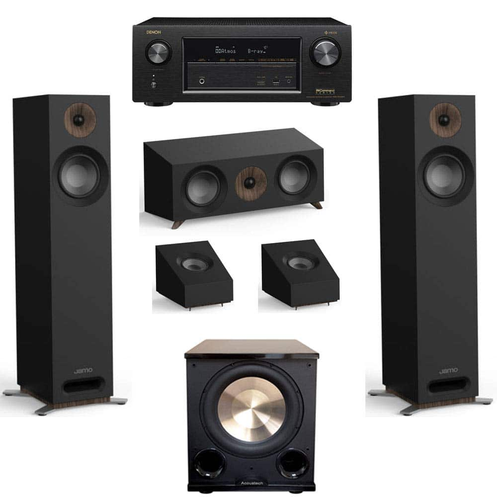 Jamo Studio Series 3.1.2 Home Theater System with S 805 Towers and Denon AVR-X3400H Receiver (Black, Walnut, White) $1199 - Amazon +Free Shipping