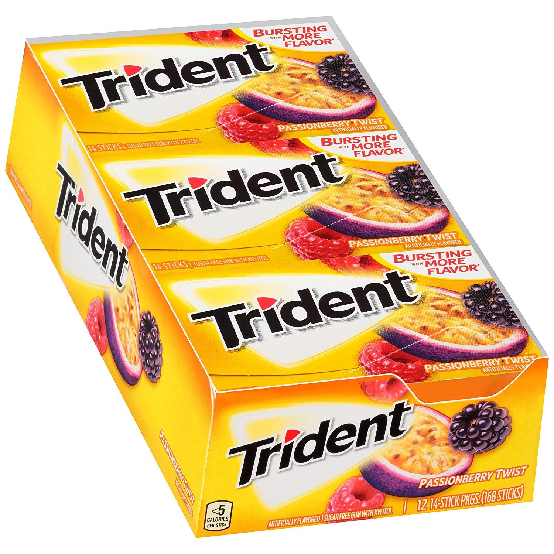 12-Pk Trident Passionberry Twist Sugar Free Gum (168 Pce.) $9.68 | 24-Pk Spearmint (366 pce.) $9.57 or Less AC w/s&s