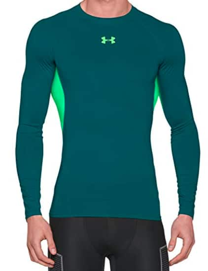 df65bfd9 Under Armour Men's HeatGear Armour Long Sleeve Compression Shirt (S or XXL  - Teal) $15.91 - Amazon - Slickdeals.net