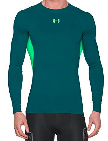 18469250 Under Armour Men's HeatGear Armour Long Sleeve Compression Shirt (S or XXL  - Teal) $15.91 - Amazon - Slickdeals.net