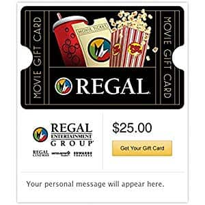 $50 Regal Cinemas Gift Cards - E-mail Delivery $42 50