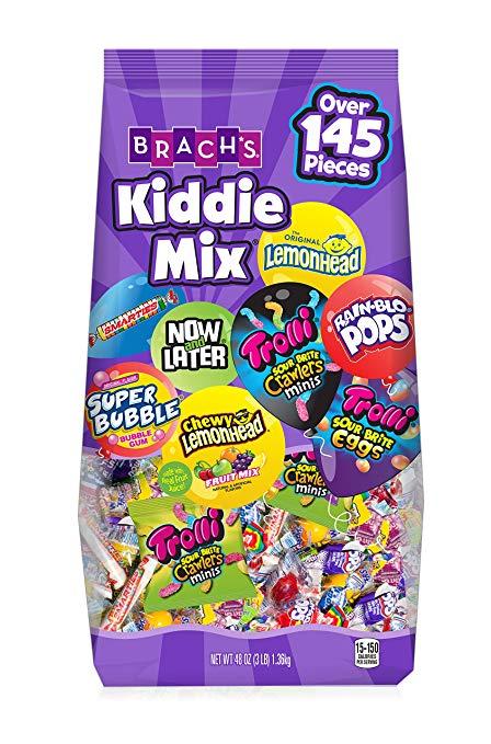 145-Piece 48 oz.  Brach's Kiddie Mix Trolli, Now & Later, Super Bubble, Smarties, Lemonhead $7.12 or $6.17 - AC w/s&s