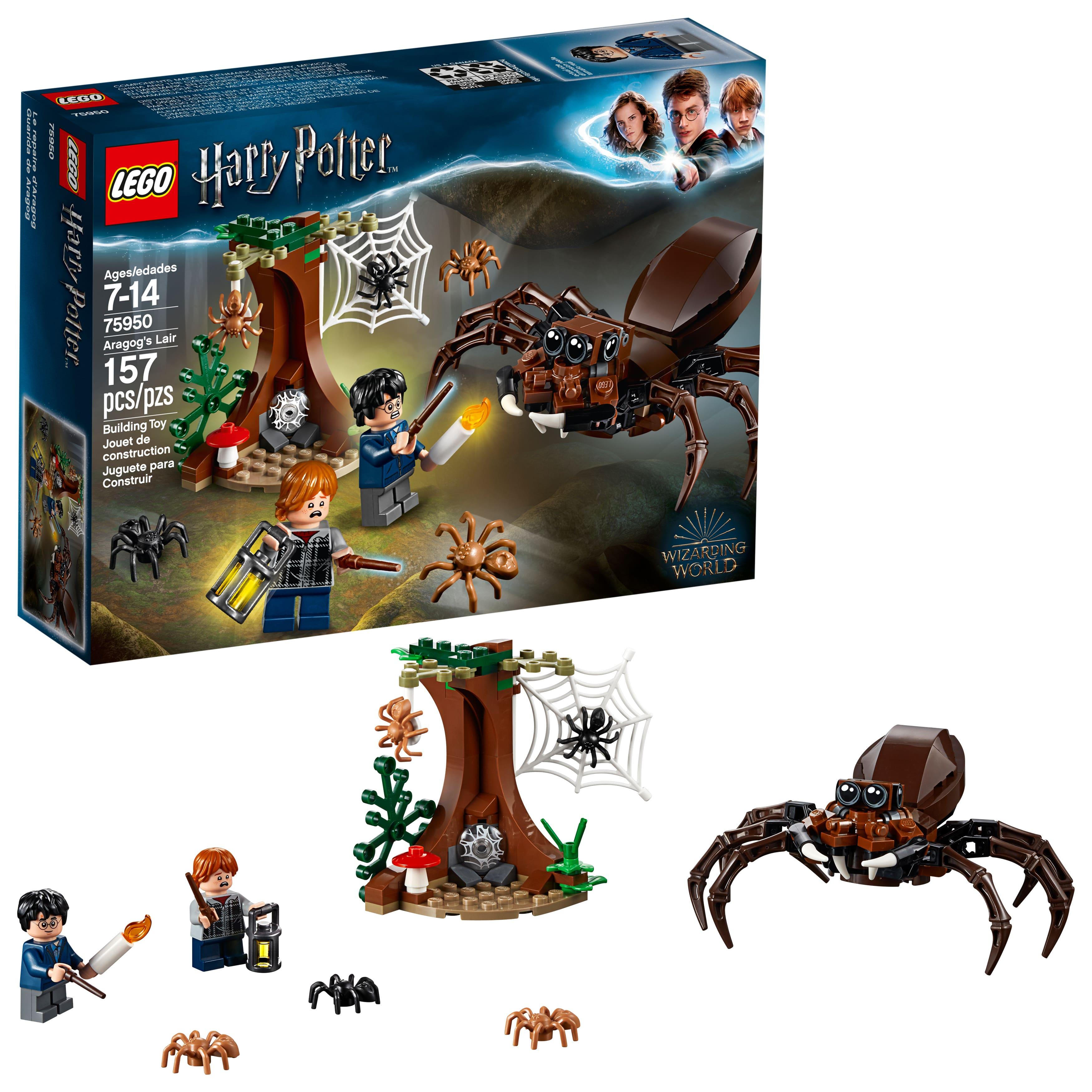 LEGO Harry Potter and The Chamber of Secrets Aragog's Lair (75950) $11.99 | Classic World Fun (10403) Kit $12.99 & More- Walmart / Amazon