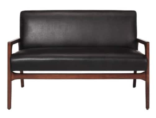 Peoria Wood Arm Loveseat Black - Project 62 $128.24 w/Red Card - Target