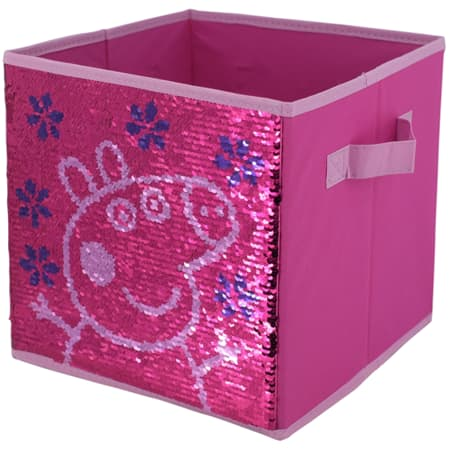 Sequin Storage Cubes (Reversible) Peppa Pig, Paw Patrol, Frozen, Minnie Mouse $8.99 - Walmart