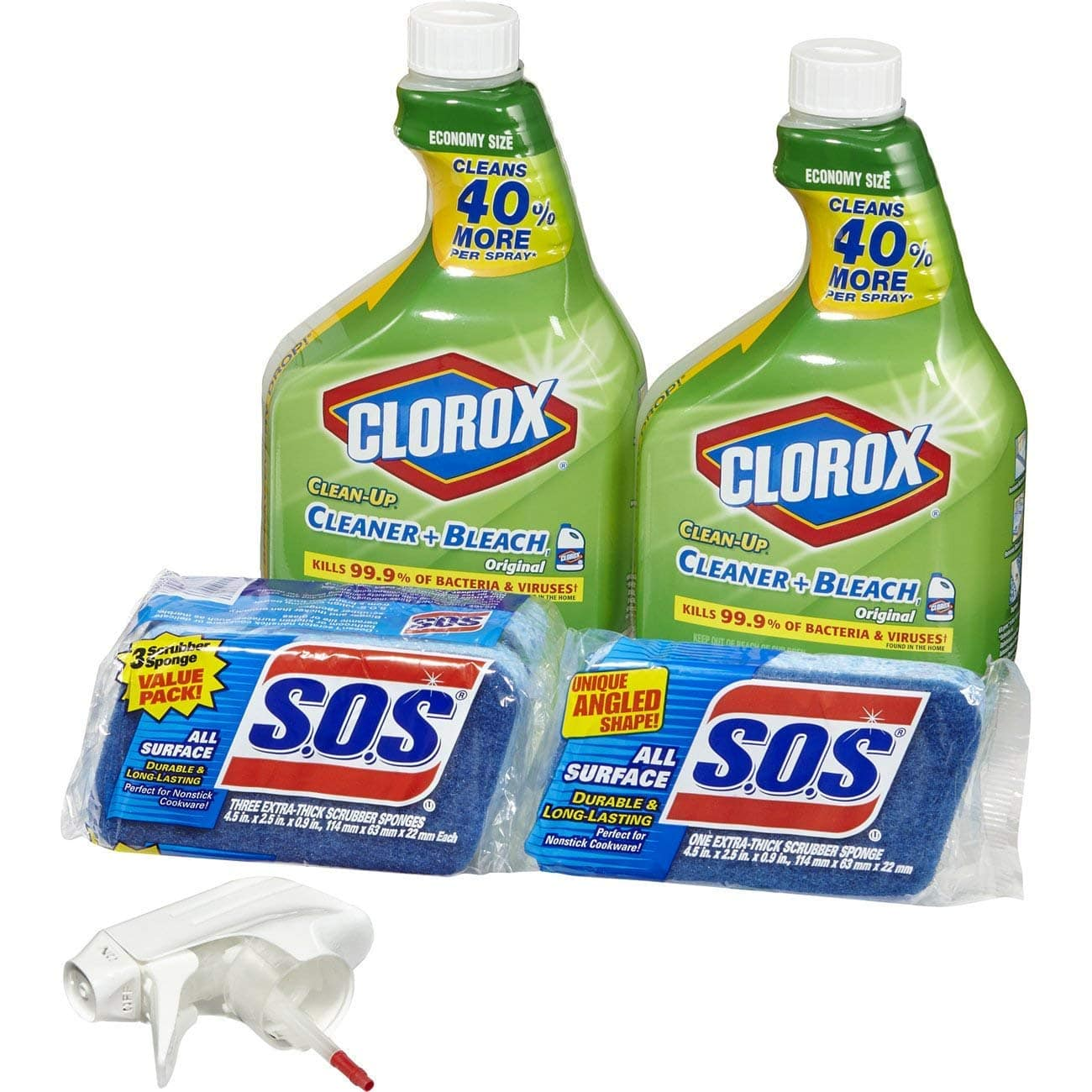 2-Ct 32oz Clorox Clean-Up + 4-Ct S.O.S Scrubber Sponges $9.37 5% or $8.12 15% AC ww/s&s + Free S/H
