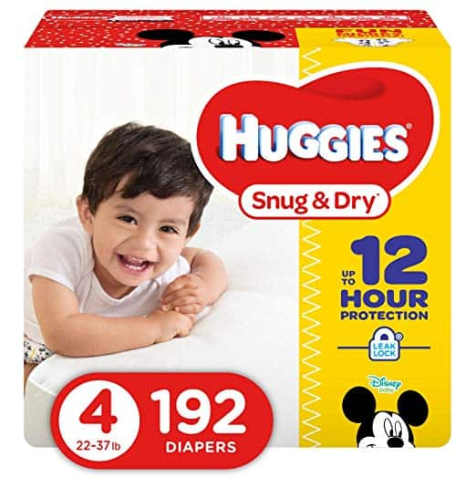 192-Count Huggies Snug & Dry Diapers (Size 4) $26.39 5% or $21.45 15% s&s & More (After 15% Coupon) +Free Ship
