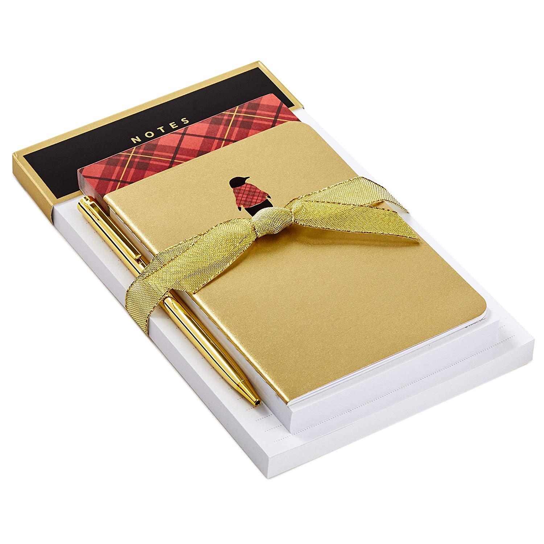 Hallmark Notepad Bundle with Pen, Plaid Penguin (3 Notepads, Assorted Sizes) $7.29 AC - Amazon